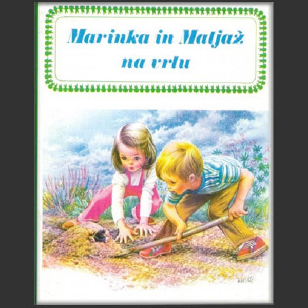 Marinka in Matjaž na vrtu